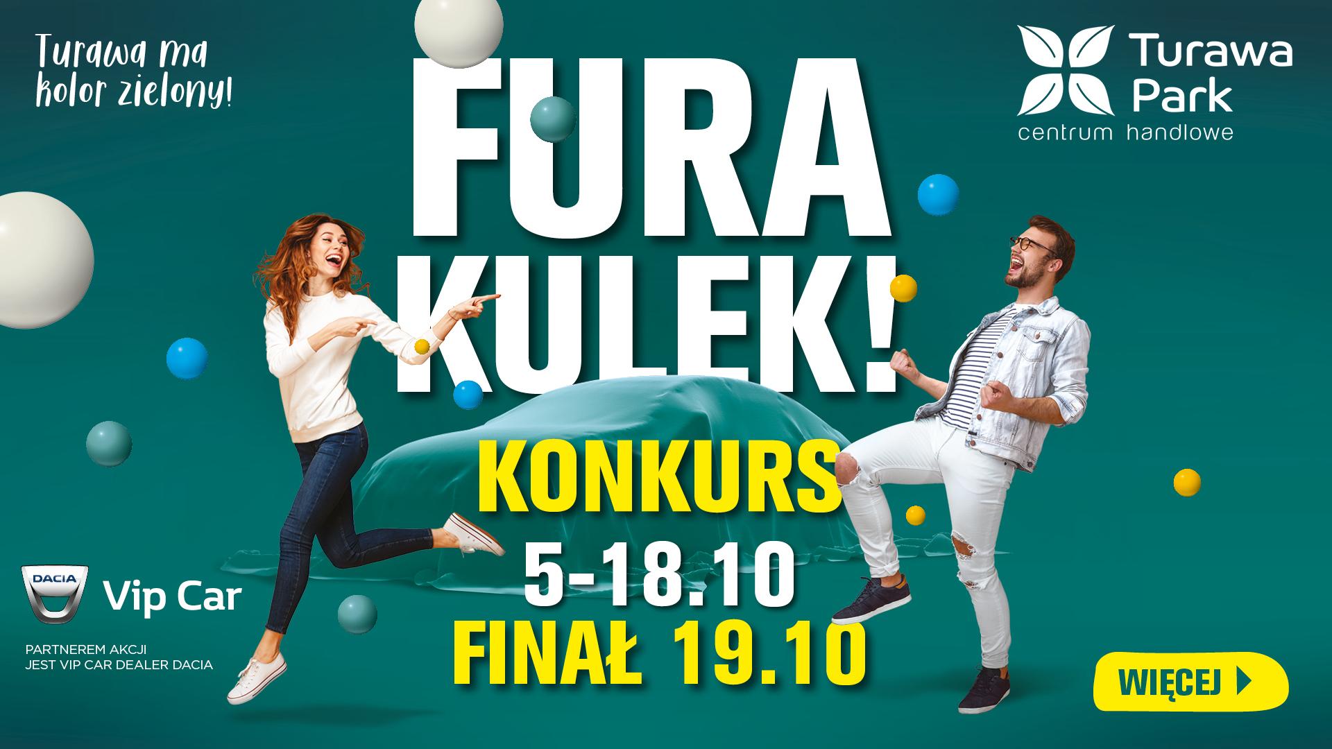 """Wciąż można wygrać samochód w jesiennym konkursie """"Fura Kulek"""" w CH Turawa Park"""